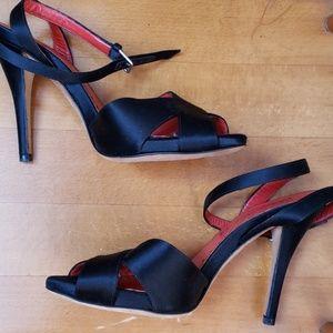 Yves Saint Laurent Shoes - Yves Saint Laurent black satin high heels